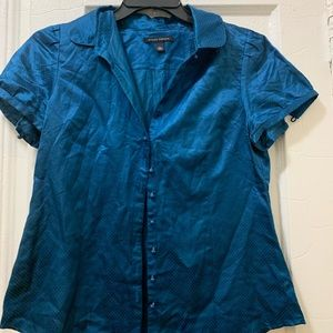 Banana Republic. Blue button down blouse. LARGE